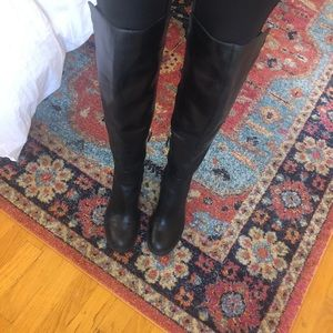 NINE WEST Over The Knee Black Boots